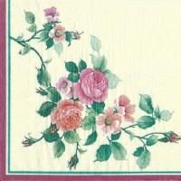 1 Serviette en papier Rose - Fleur - Ref 1227