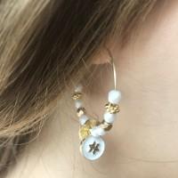 Créoles perles de verre