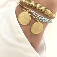 Bracelet demi jonc turquoise