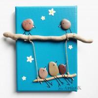 Deco poétique chambre enfant tableau balançoire