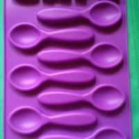 Lot moule en silicone 7 cuillères à café et  Lettre en Café