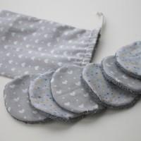 lingettes démaquillantes en éponge et coton , lavables et réutilisables