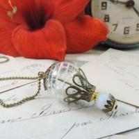 Steampunk , collier -pendentif