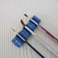 Repose-pinceaux bleu,  brush-holder