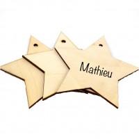Etoile personnalisée gravée cadeau original 10cm