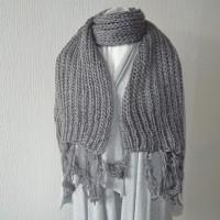 Echarpe grise laine acrylique accessoire mode