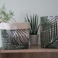 Panier en lin feuille de palmier cache pot rangement