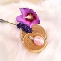 Pendentif en Opale rose sur bélière de 2.5cm