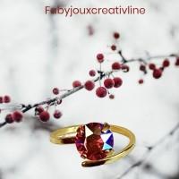 Cristal rouge Irisé