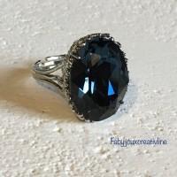 Bague Bleu bermudes
