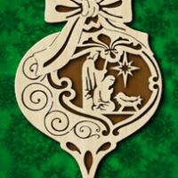 Décoration de Noël représentant la nativité