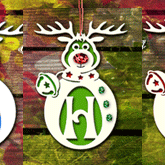 Décoration de Noël personnalisable avec initiale