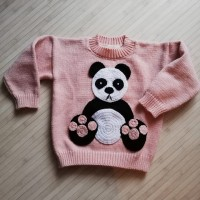 PULL  FILLE   PANDA  TAILLE 4/5 ANS