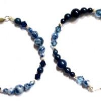 bracelets _ Duo LAPIS _ SODALITE _ cristal _ argent 925