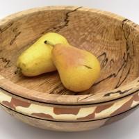 Coupe en aulne échauffé tourné à la main - pièce unique - coupe à fruit savane - décoration cuisine et salon WOODISLAND