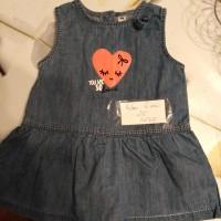 robe en jean taille 6 mois