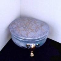 Boite romantique en porcelaine de Limoges
