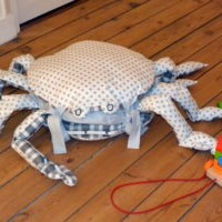 Pouf Crabe- Coussins déco- Sur Commande