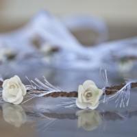 Couronne de fleurs angélique pour demoiselle d'honneur