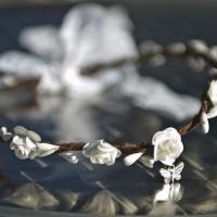 Couronne de fleurs de mariée ou pour un festival médiéval modèle Papillon