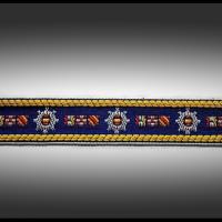 galon vintage véritable motifs marins 2.8 cm
