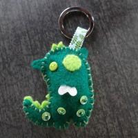 Porte clés monstre vert