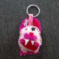 Porte clés lapin monstre