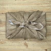 Furoshiki - Emballage cadeau en tissu (Jute)