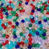 Assortiment de perles en verre toupie 4 mm multicolore x 50