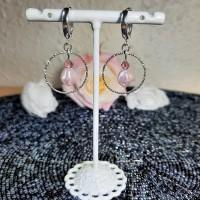Boucles d'oreilles dormeuses lili rose
