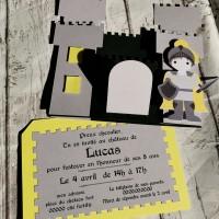 Carton d'Invitation Anniversaire Château Fort
