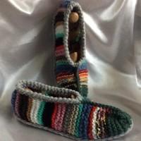 Chaussons multicolore rustique pour femme,homme T39-41