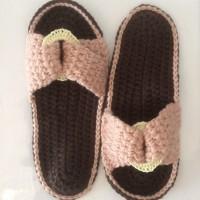 Chaussons -pantoufles au crochet semelles doux pour femme,homme T39-40