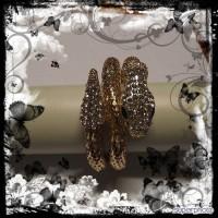 Bracelet serpent plaqué or-strass-nouveau modèle