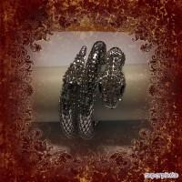 Bracelet serpent argenté strass-nouveau modèle