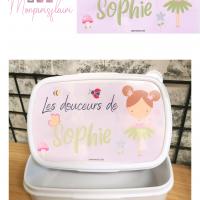 Boîte à goûter blanche thème