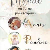 Affiche Mamie à personnaliser avec photos
