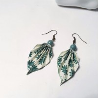 Boucles d'oreilles origami jungle