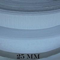25 mètres velcro a coudre , blanc , noir , 25 mm , auto agrippant , scratch , lot de 50 mètre