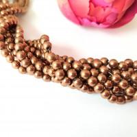 100  perles en hématite 4 mm  - hématite cuivre - hématite synthétique   - bracelet shamballa Q102