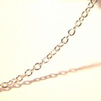 2 M de chaîne trés fine-  chaine maille gourmette,  , maille ovale lisse 1.8 mm x 1.5 mm- chaine argent - NF81