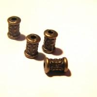 25 perles intercalaires bronze , perle métal, perle entretoise, 7 mm, perle bronze,  Q51