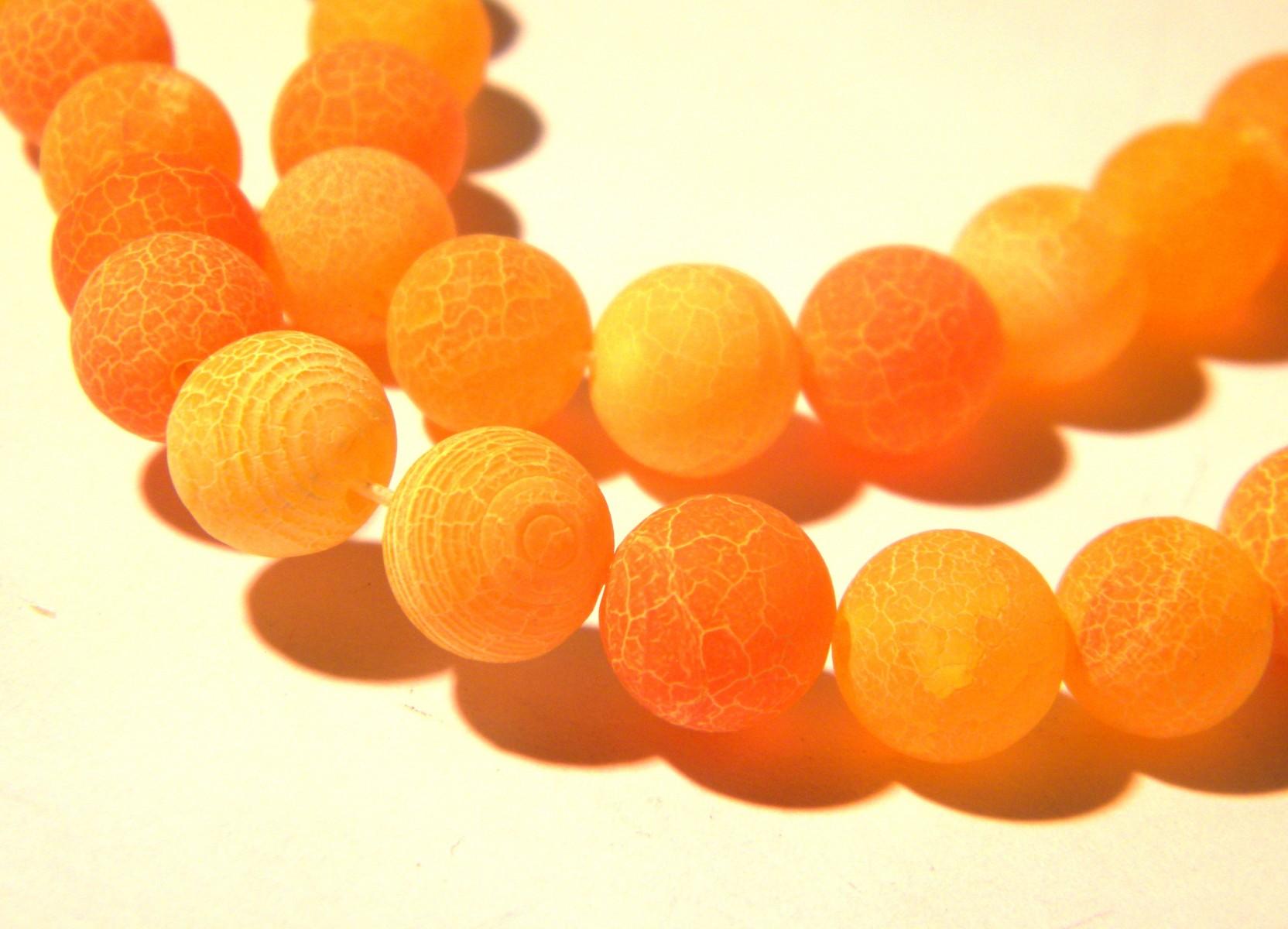 Givré craquelé agate perles rondes 10 mm fuchsia 38 PCS pierres précieuses À faire soi-même Bijoux