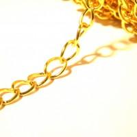 2 métre de chaine  8 mm x 6 mm - chaine maille dorée - chaine doréeNF83