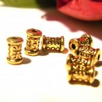 50 perles intercalaires doré , perle métal, perle entretoise, 7 mm, perle dorée,  Q50