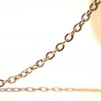 1 M de chaine maillon   3.8 mm x 1.5 mm acier inox - couleur platine-chaine en acier inoxydable -  -NF83
