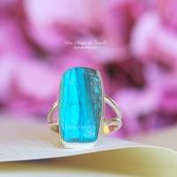 Rare Opale du Pérou bague taille 54