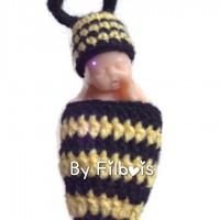 Bonnet miniature et nid d'ange assorti type