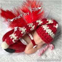 Bonnet miniature noël pour bébé fimo, lot de 3
