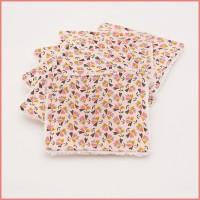 6 lingettes lavables fleurs 142